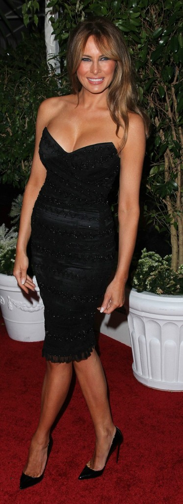 Melania Trump at the QVC Red Carpet Style Party, Four Seasons Hotel, Los Angeles, CA. 02-25-11