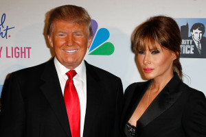 NEW YORK-MAY 20: Donald Trump and wife Melania