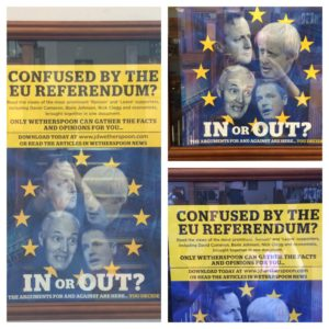 Brexit ad at Robert the Bruce Pub, Scotladn